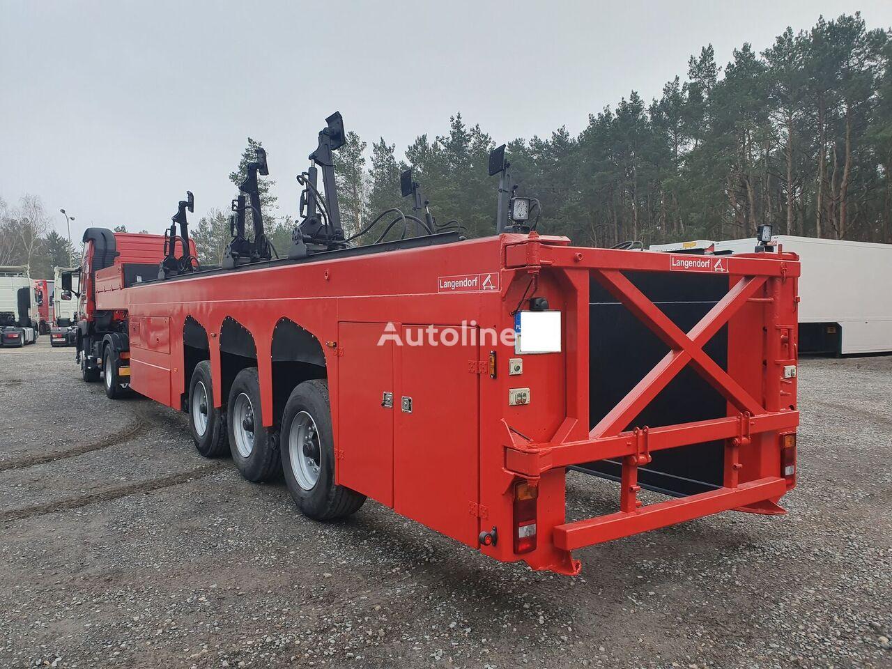 LANGENDORF FLOATLINER do przewozu płyt betonowych, prefabrykatów glass transport semi-trailer