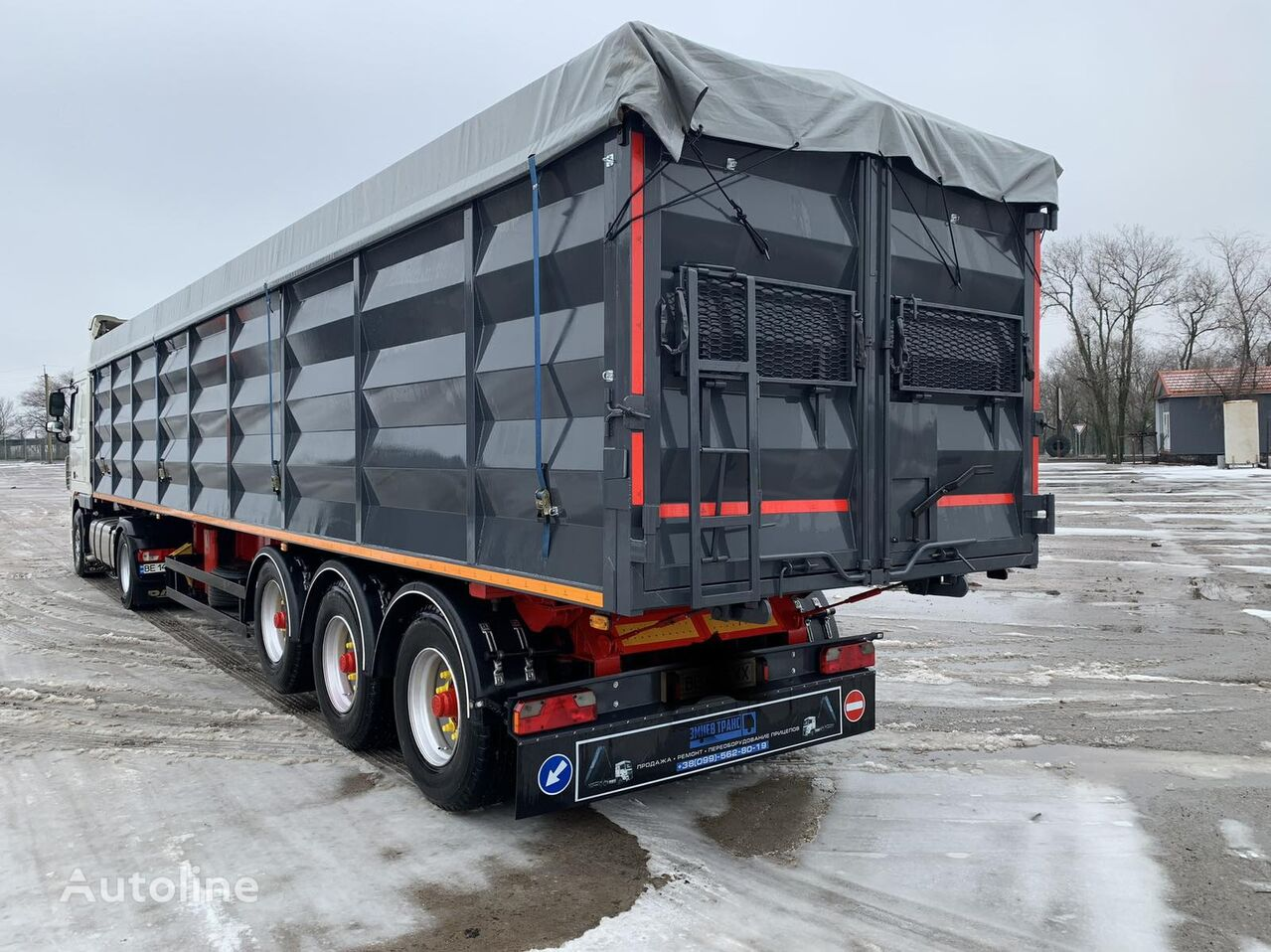 SCHMITZ CARGOBULL SPR 24 Konteynerovoz samosval! 60m3 grain semi-trailer