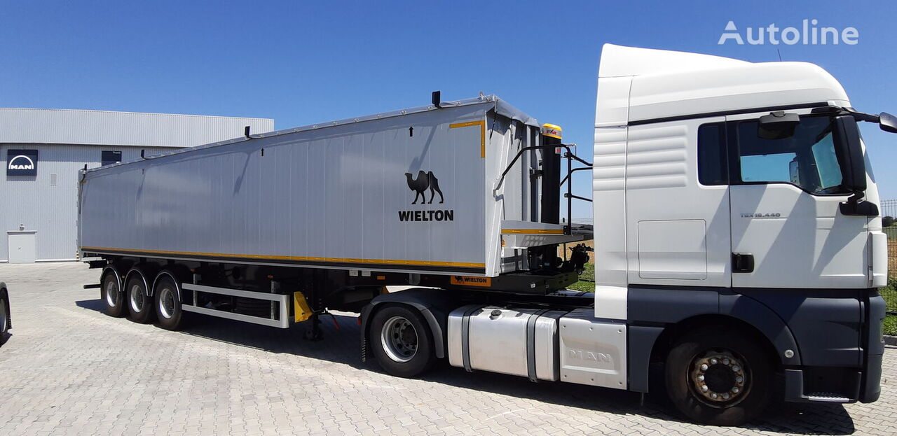 new WIELTON NW-3 grain semi-trailer