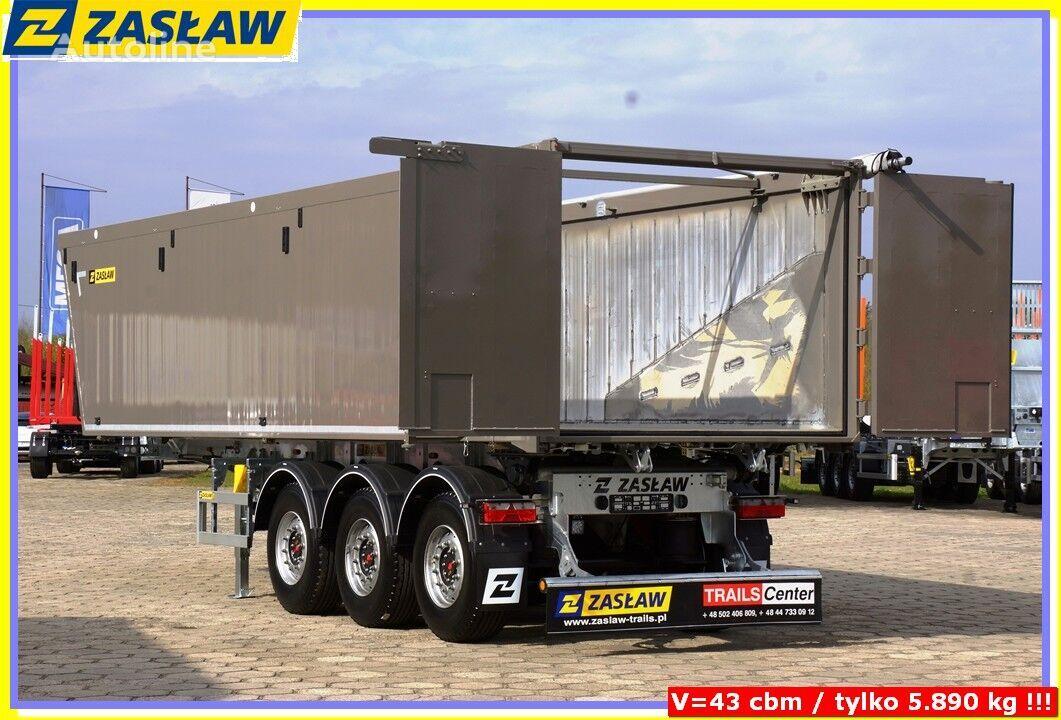 new ZASŁAW 43 m³ tipping semi-trailer Light up 5.690 kg ! READY ! grain semi-trailer