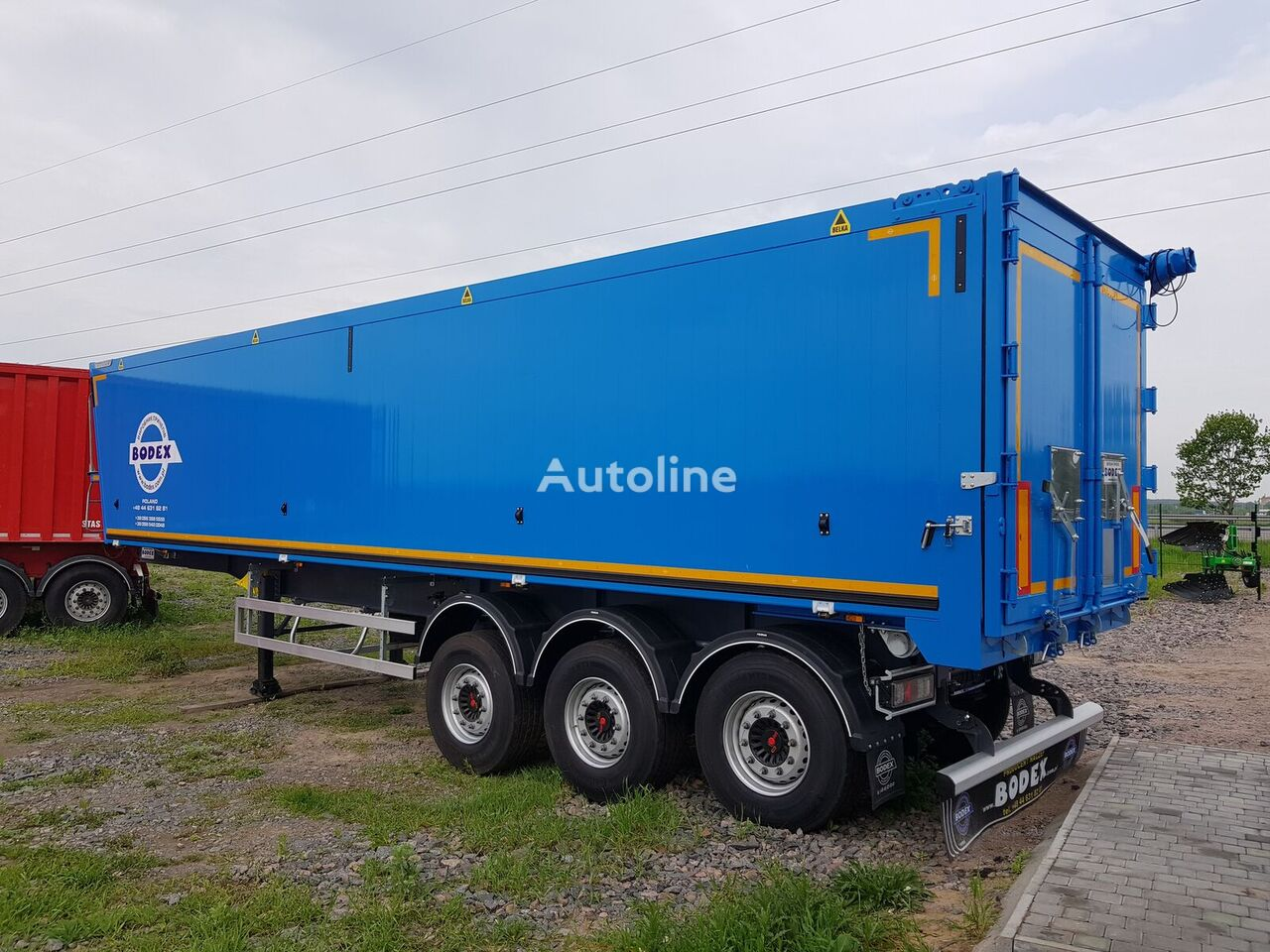 new BODEX KIS aluminowe 55m3 grain truck semi-trailer