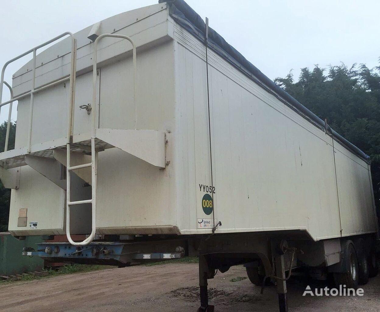 FRUEHAUF KIPPER 53M3 ALU grain truck semi-trailer
