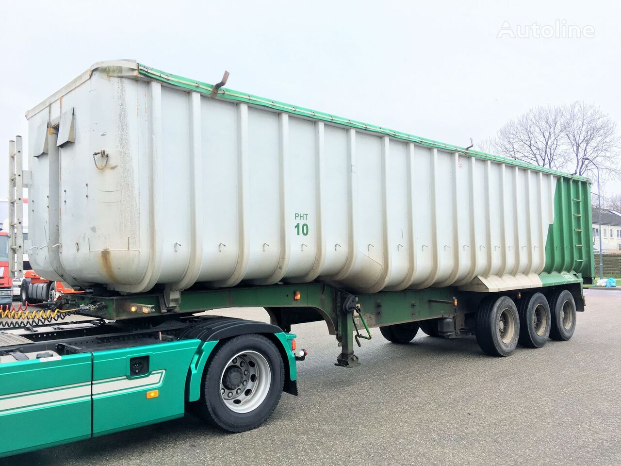 Kipper - Fruehauf 49m3 ALU/Steel - Cover grain truck semi-trailer