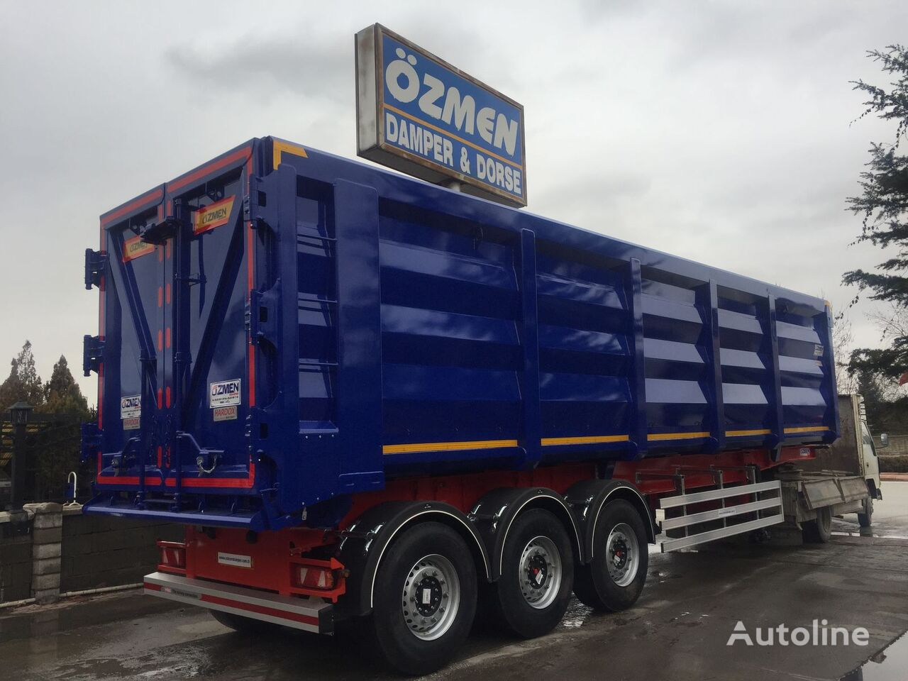 new Ozmen Damper 55 m3 SCRAP METAL  CARRIER grain truck semi-trailer