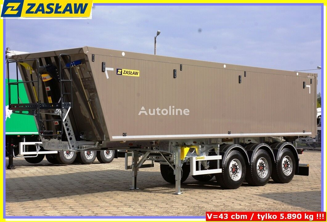 new ZASLAW TRAILIS 45-50 m3 / 5.890 KG Super LIGHT KippAuflieger fur Korn BEREI grain truck semi-trailer
