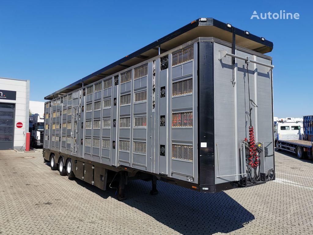 Menke-Janzen 4 Stock / Hudbach / Lenkachse livestock semi-trailer