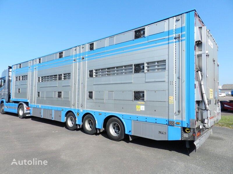 PEZZAIOLI SBA 32  3+3+3  ANODIZED livestock semi-trailer