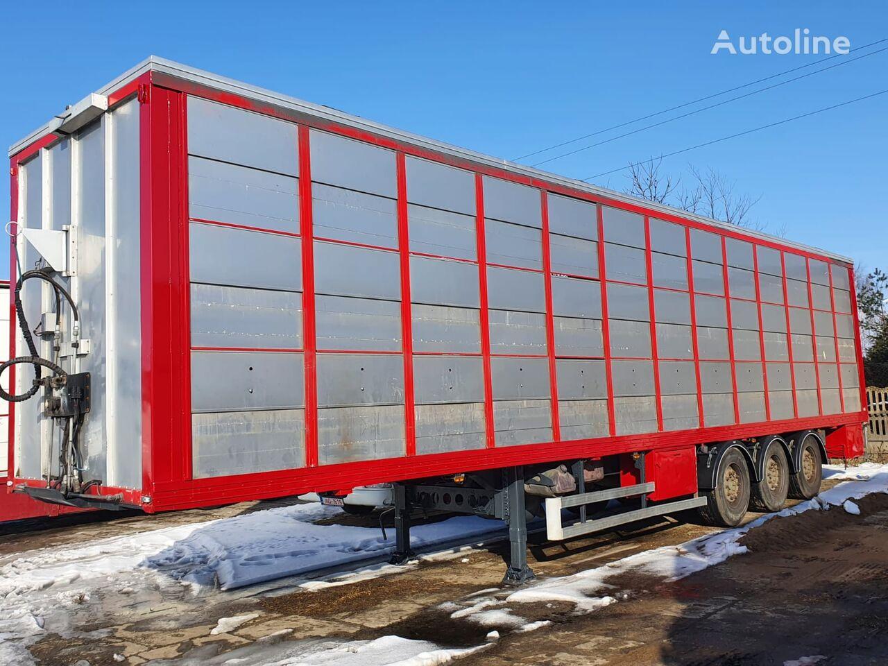 LECI TRAILER GUITTON for pigs transports 3 levels livestock semi-trailer