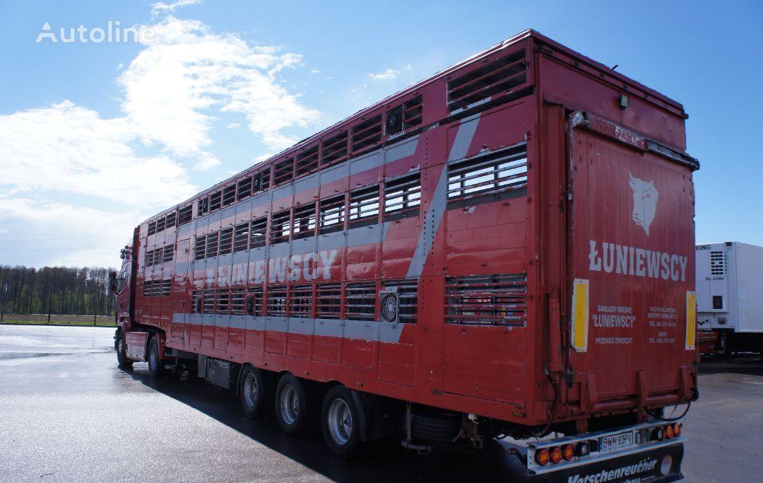 PEZZAIOLI NACZEPA DO BYDŁA / 2 POZIOMY / DACH PODNOSZONY livestock semi-trailer