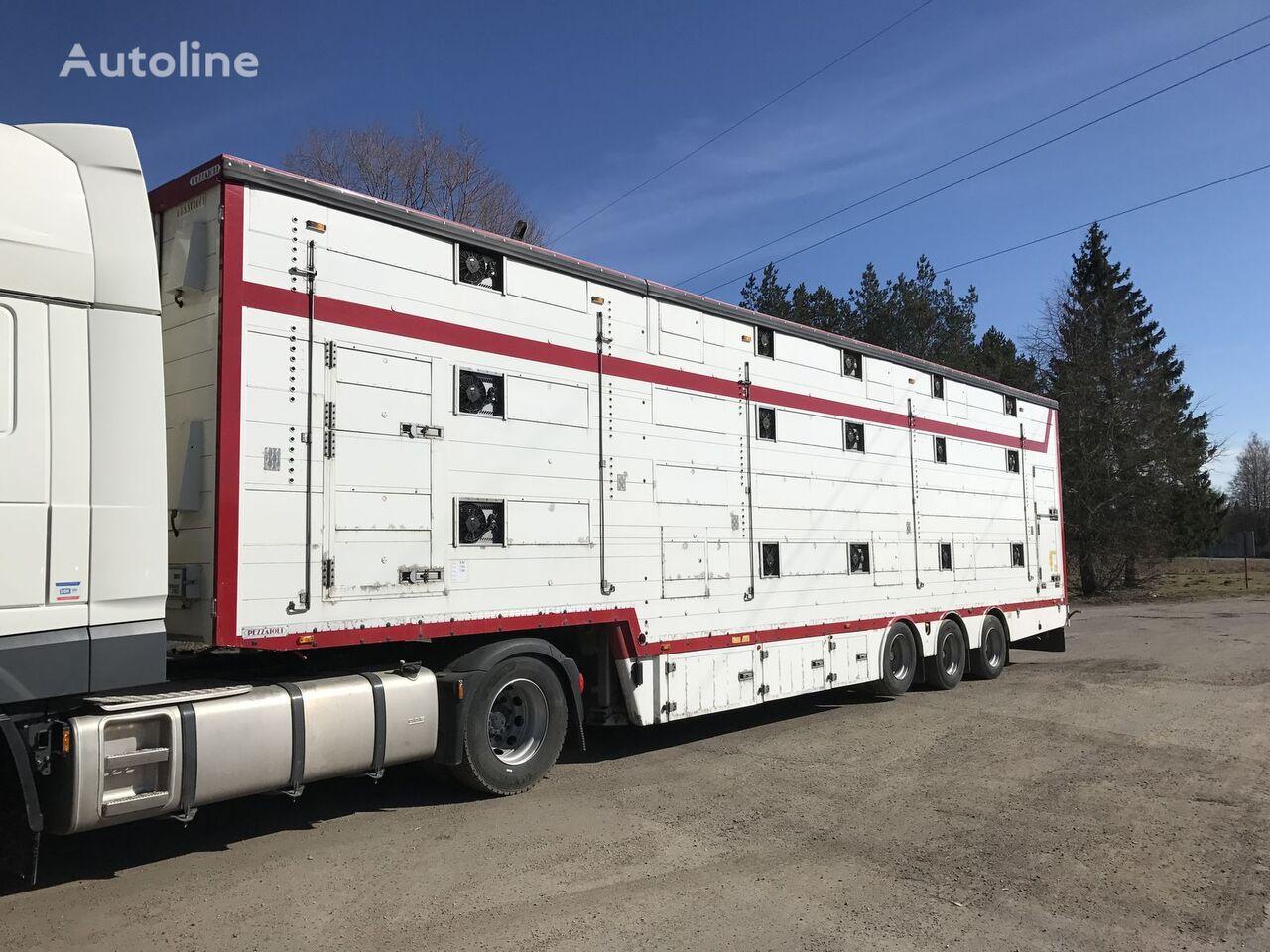 PEZZAIOLI SBA 32 livestock semi-trailer