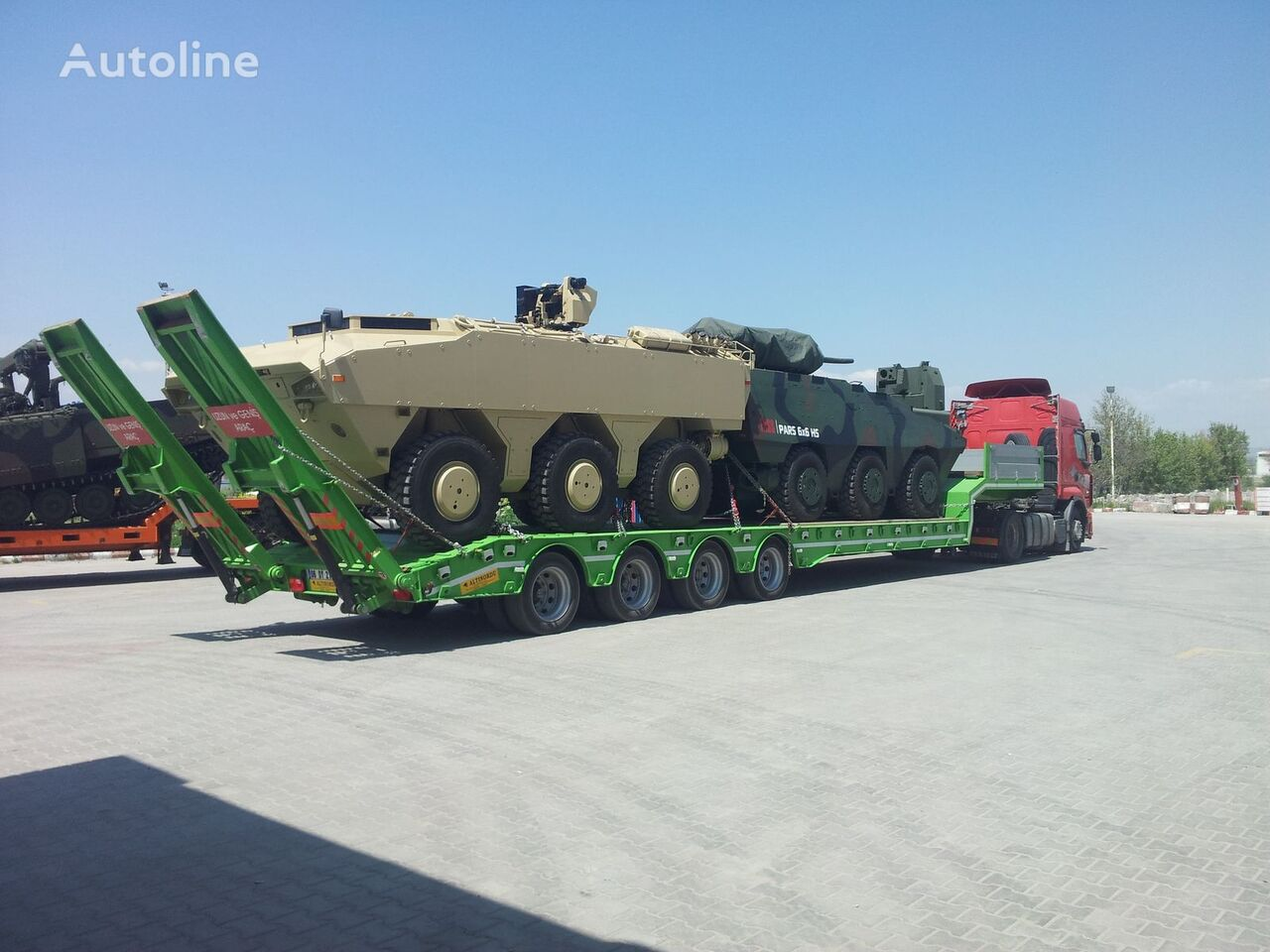 new ALTINORDU Prodoucer since 1972, 4 axle lowbed with hydraulic ramp low bed semi-trailer