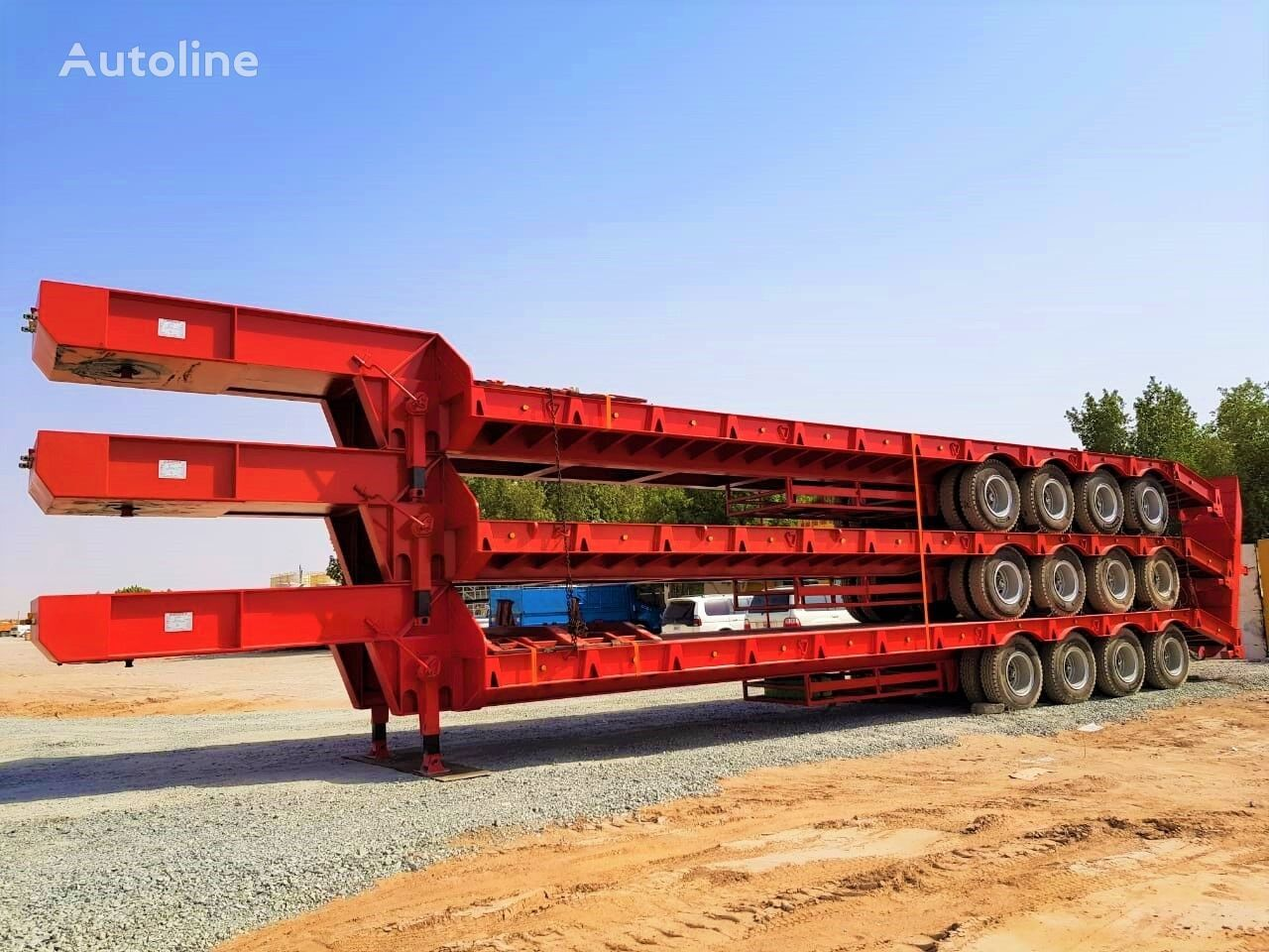 new AME 80 Ton Lowbed from Manufacturer Company low bed semi-trailer
