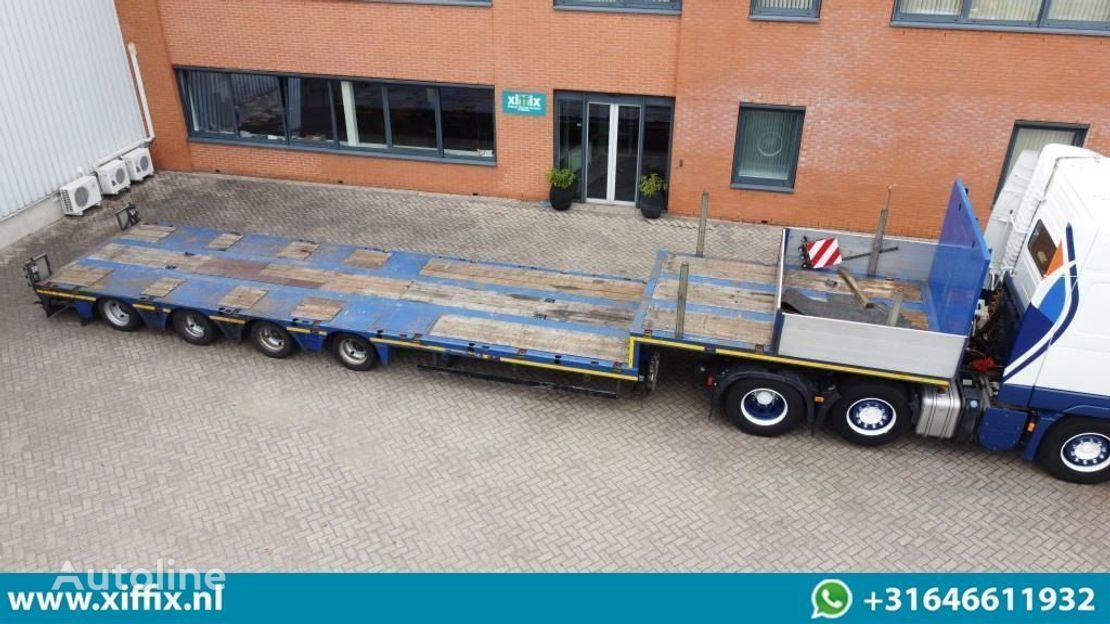 DOLL dieplader // 2x naloop gestuurd // 78 cm. Hoog low bed semi-trailer