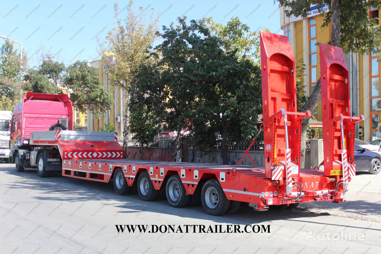 new DONAT 4 axle lowbed - extendable low bed semi-trailer