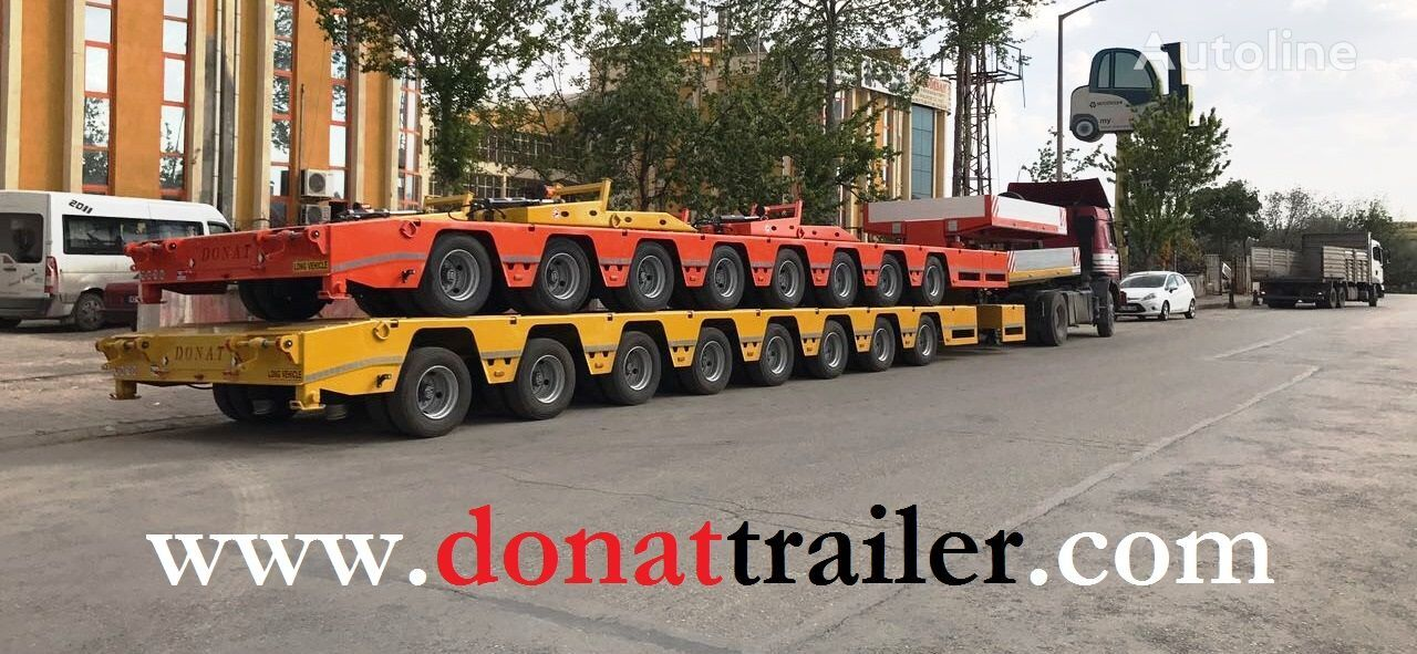 new DONAT 8 axle Heavy Duty Extendable Lowbed low bed semi-trailer