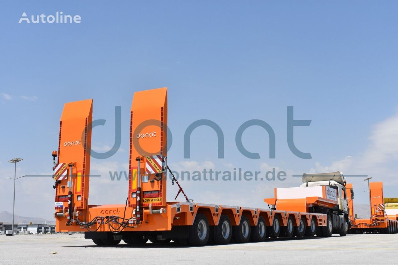 new DONAT 8 axle lowbed with hydraulic Gooseneck - Heavy Duty low bed semi-trailer
