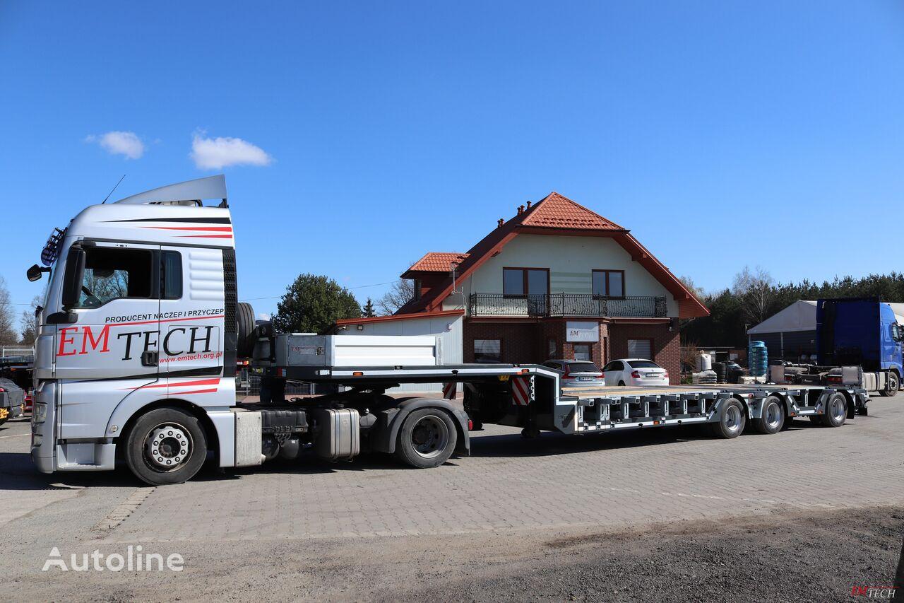new EMTECH SERIA NNZ-R model 3.NNZ-1R-1N (NA, ZO) Zagłębiana, Rozciągana low bed semi-trailer