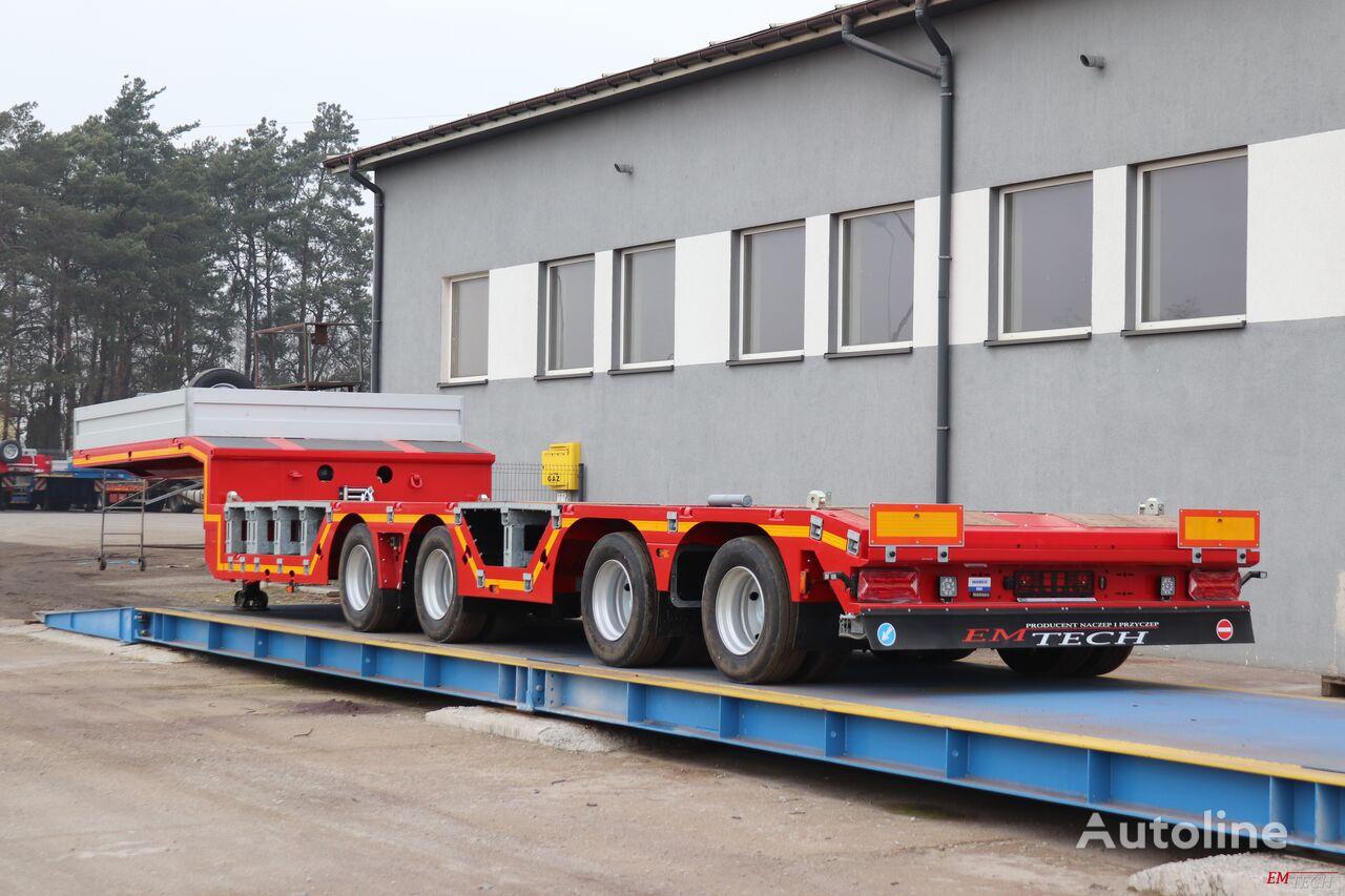 new EMTECH SERIA NNZ-R model 4.NNZ-1R-2N (NA) Zagłębiana, Rozciągana low bed semi-trailer