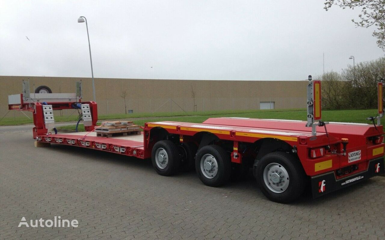 new FAYMONVILLE 300 mm lowbed pendel axles low bed semi-trailer