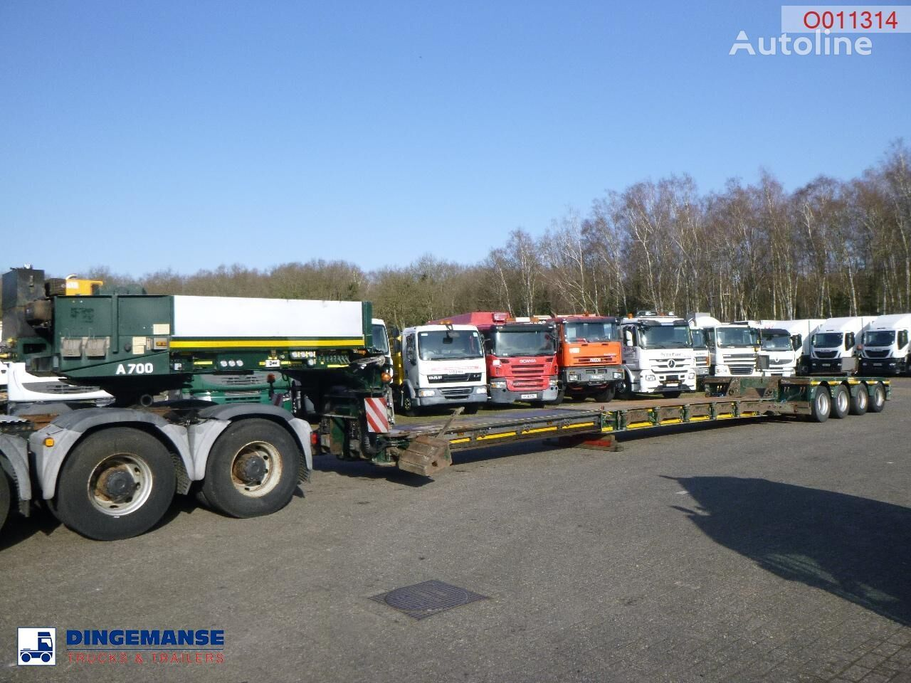 FAYMONVILLE 4-axle lowbed trailer STBZ-6VA / 89 t / extendable 11.7 m low bed semi-trailer