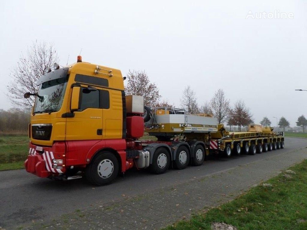 new GOLDHOFER STHP GOOSENECK + THP SL 4 AND 6 AXLE MODULES + DROPDECK 14.000 m low bed semi-trailer