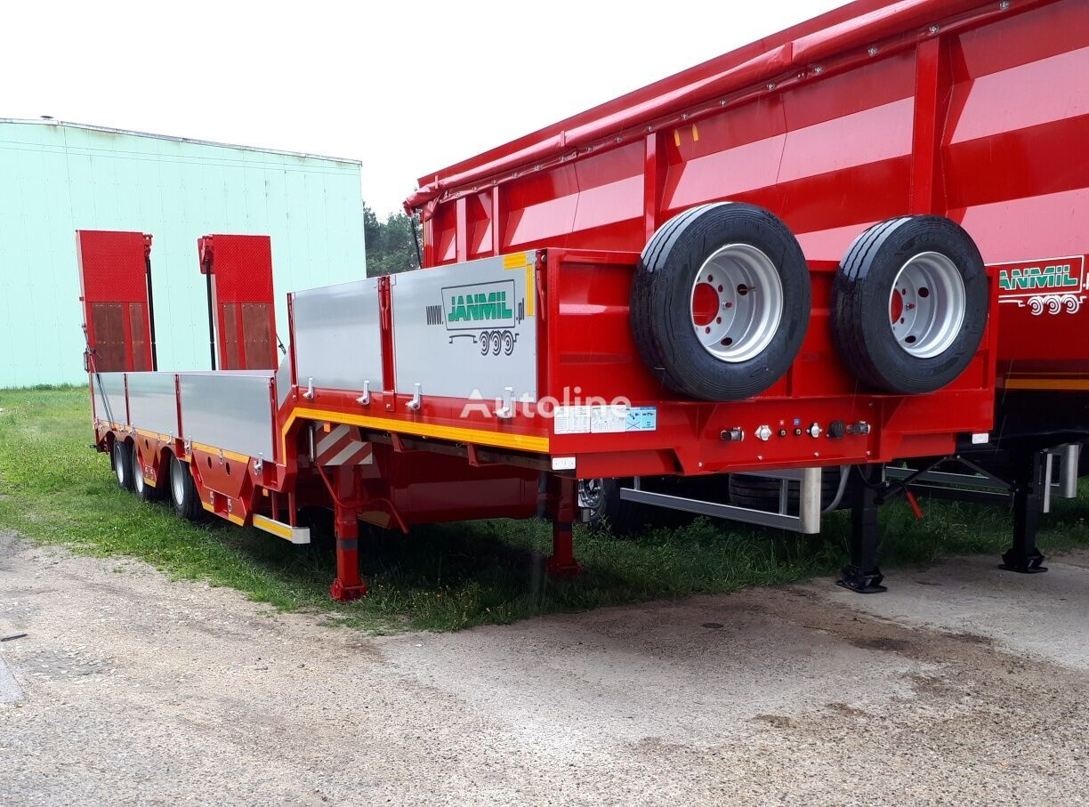 new JANMIL with hydraulics ramps SAF  low bed semi-trailer