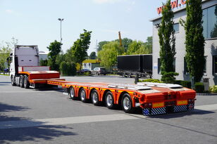 KASSBOHRER LB5E , GVW 81.000kg , 5xSAF , 2 steer axles , lift axle , 15,4 x low bed semi-trailer