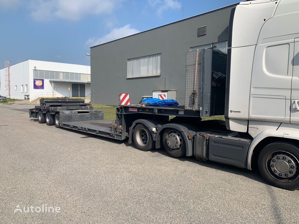 KEMPF SPT 48/3 low-bed, telescopic low bed semi-trailer