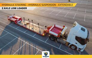 new KOMODO  HYDRAULIC STEERING LOWBED WITH TPO AXLE POOL low bed semi-trailer