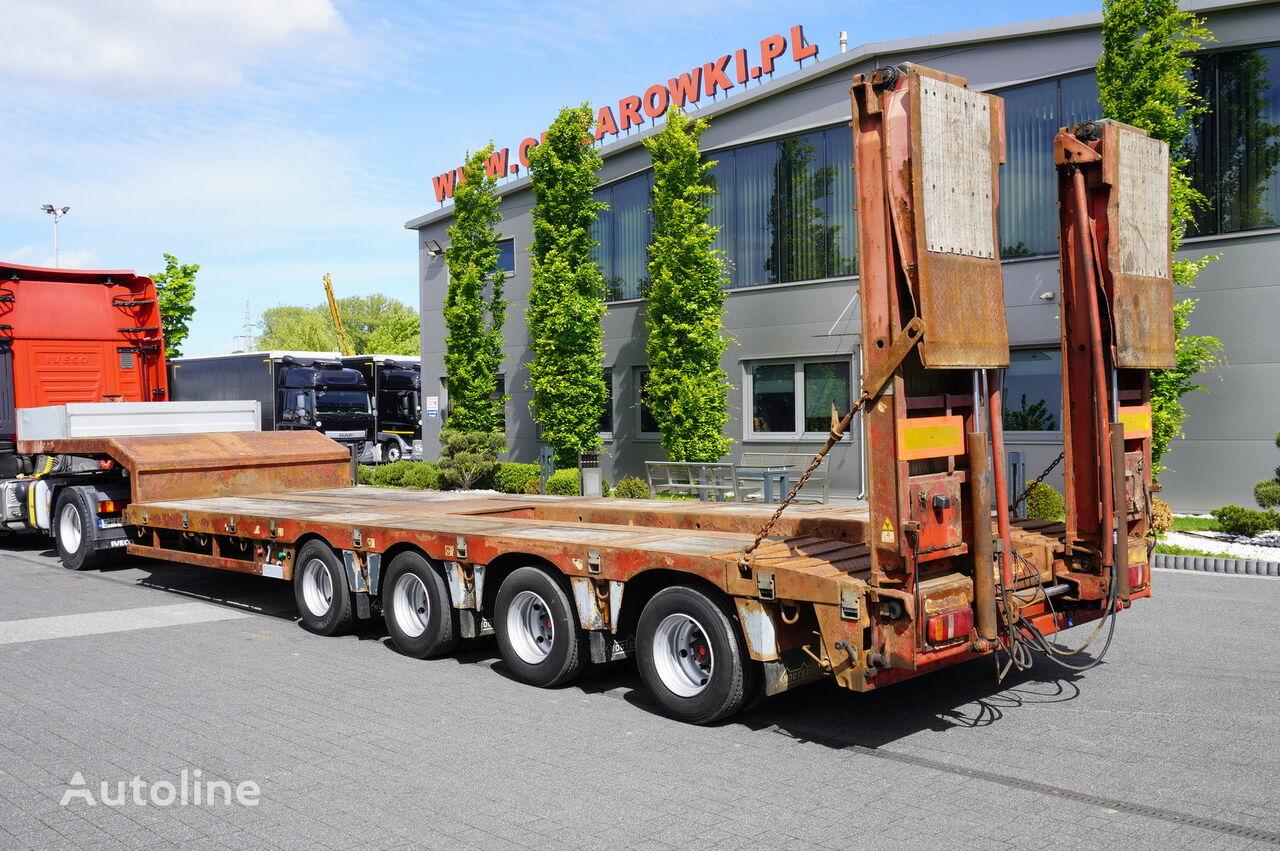 NOOTEBOOM OSD-73-04 , 4 axles , hydraulic ramps , 9,7 x 2,75 , 2 steer axl low bed semi-trailer
