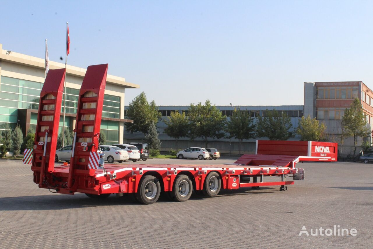 new NOVA NEW LOWBED SEMI TRAILER PRODUCTION    low bed semi-trailer