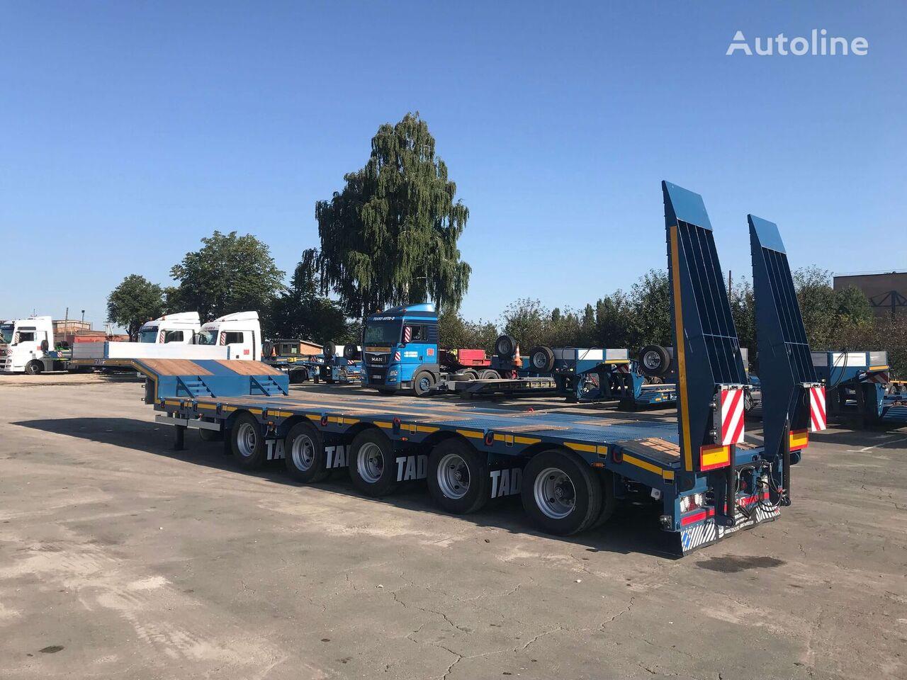 new TAD Jumbo 55-5T low bed semi-trailer