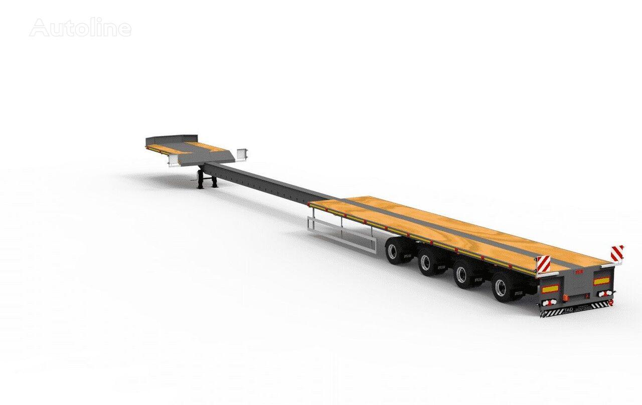 new TAD TUR Telescop 40-4T low bed semi-trailer
