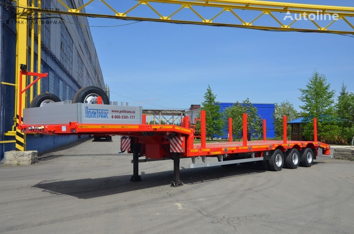 new Politrans 94183-0000070-0Zh01 low bed semi-trailer
