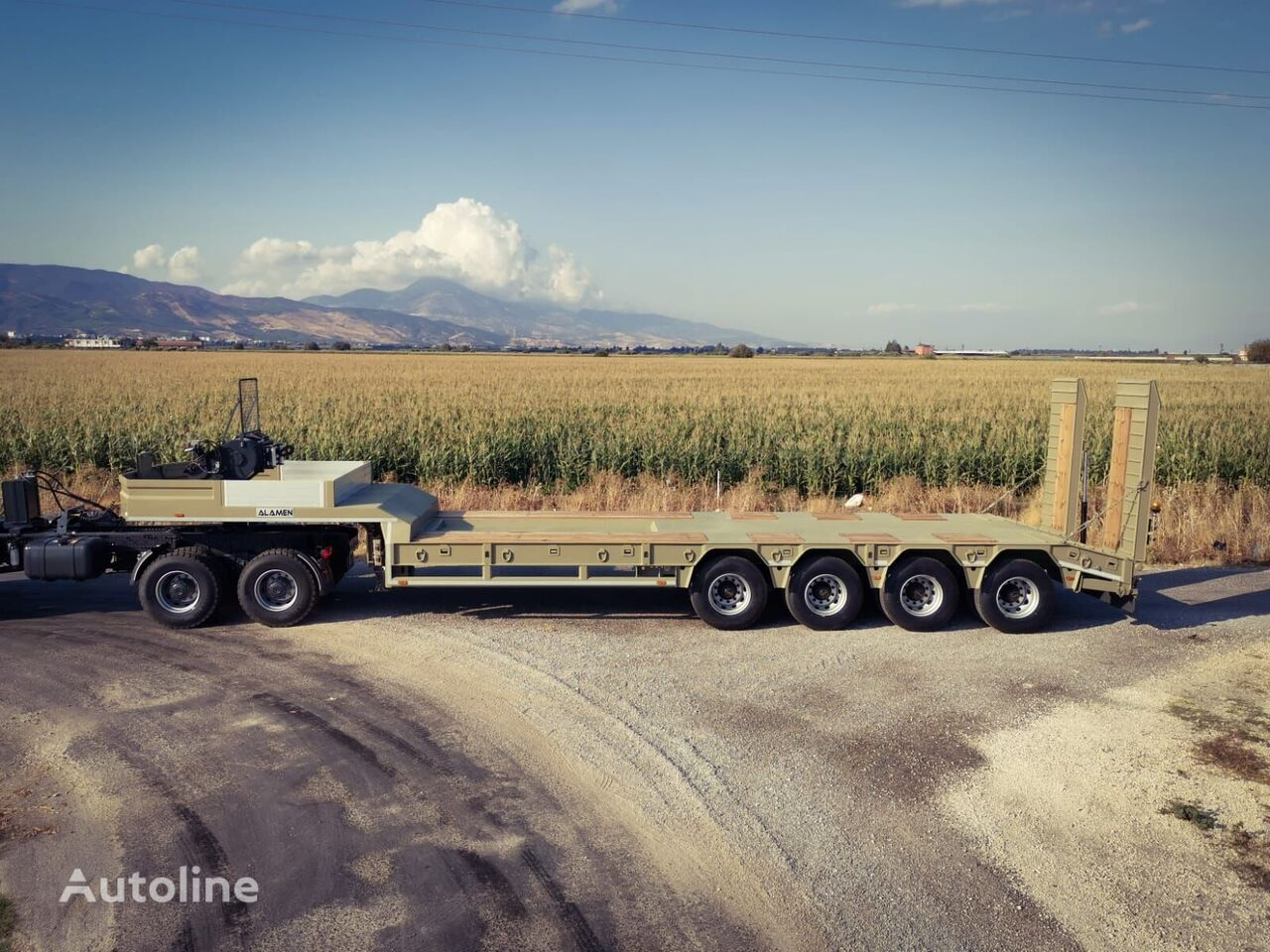 ALAMEN HEAVY TONNAGE low bed semi-trailer