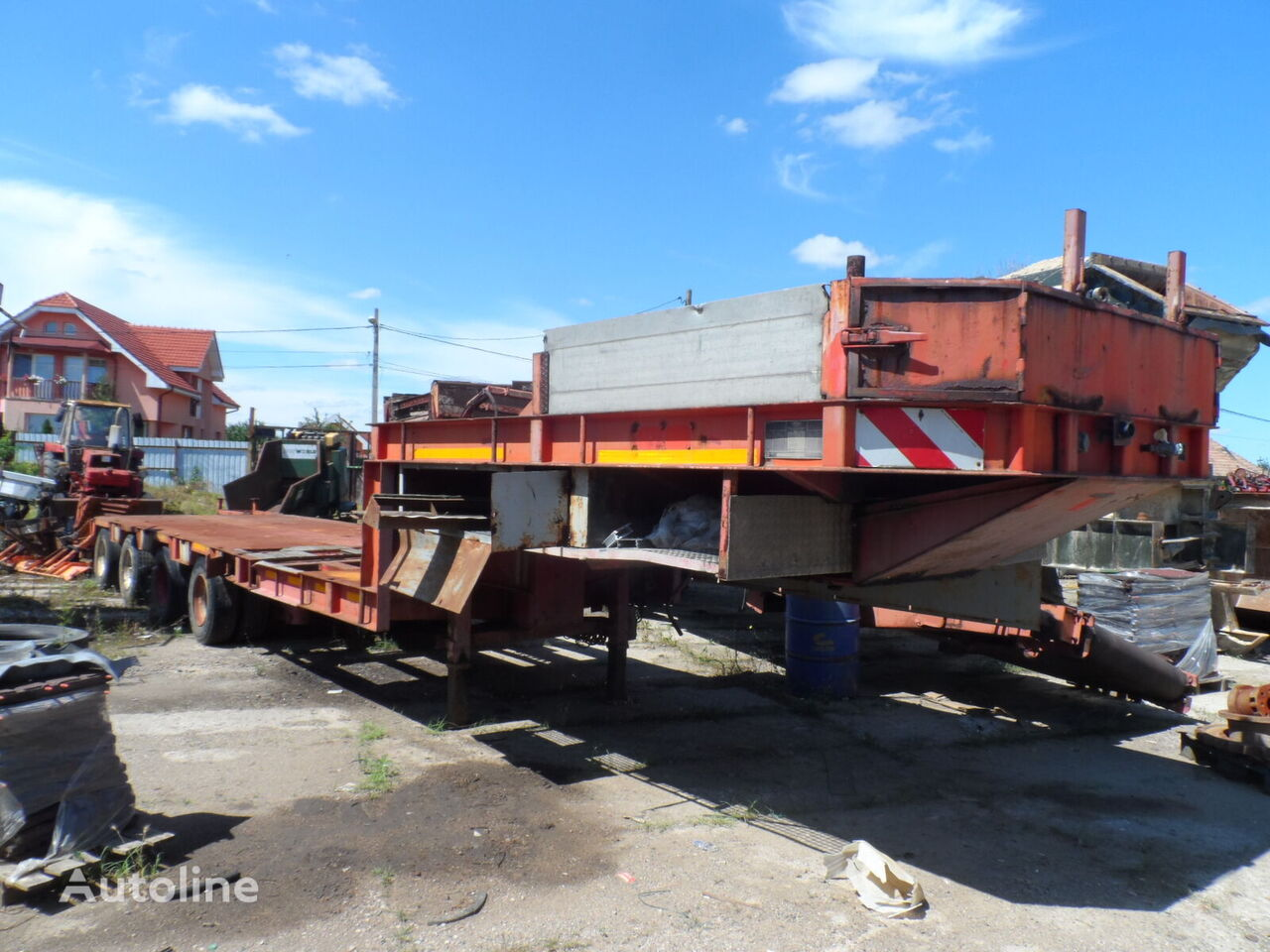BROSHUIS 4AOU low bed semi-trailer