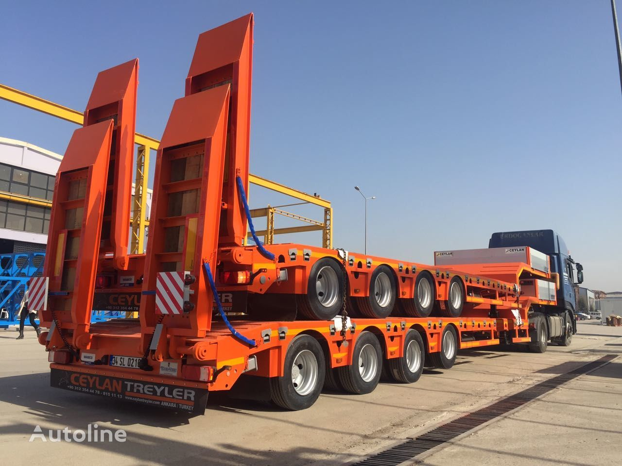 new CEYLAN EXTENDABLE 4 AXLES low bed semi-trailer