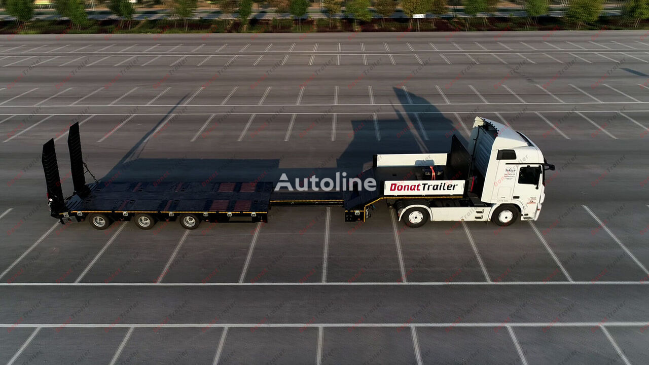 new DONAT 3 axle lowbed extendable - metallization low bed semi-trailer
