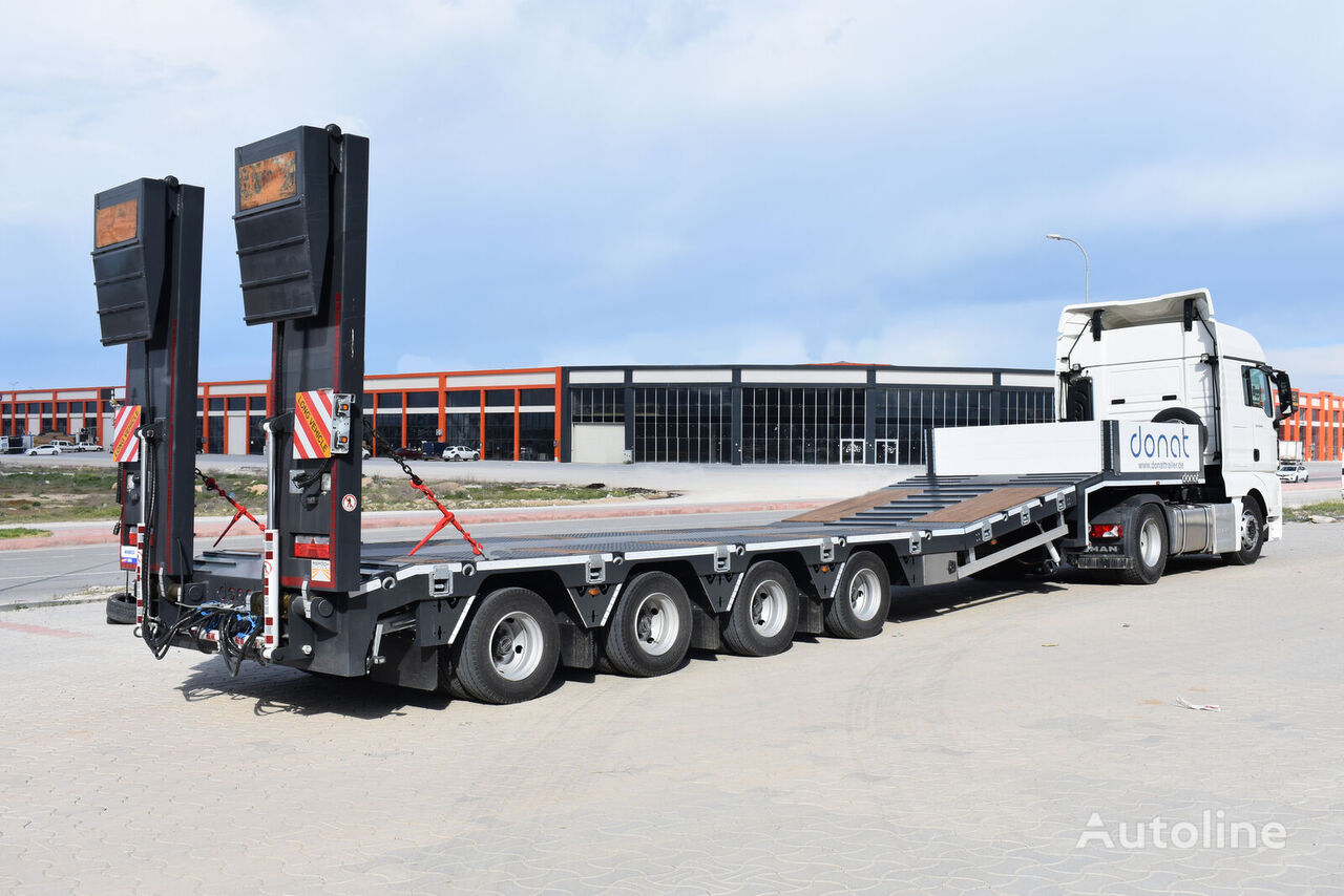 new DONAT 4 axle Lowbed Semitrailer with lifting platform low bed semi-trailer