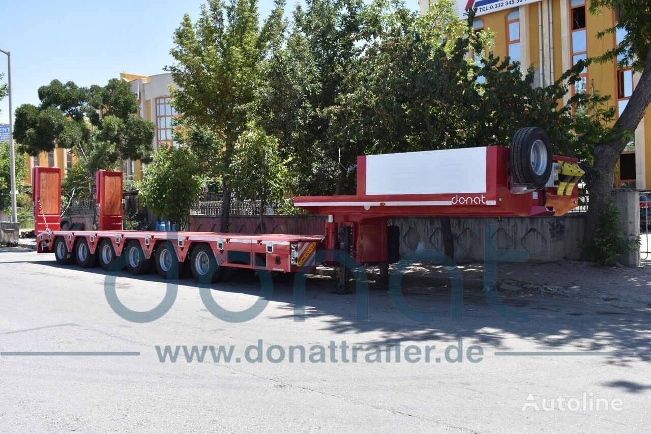new DONAT 6 axle Extendable Lowbed with Hydraulic Gooseneck low bed semi-trailer