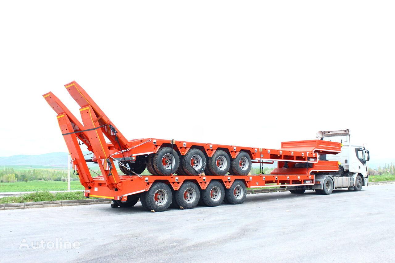 new EMIRSAN  4 Axle 12 R 22.5 Lowbed Semi Trailer Heavy Duty  low bed semi-trailer