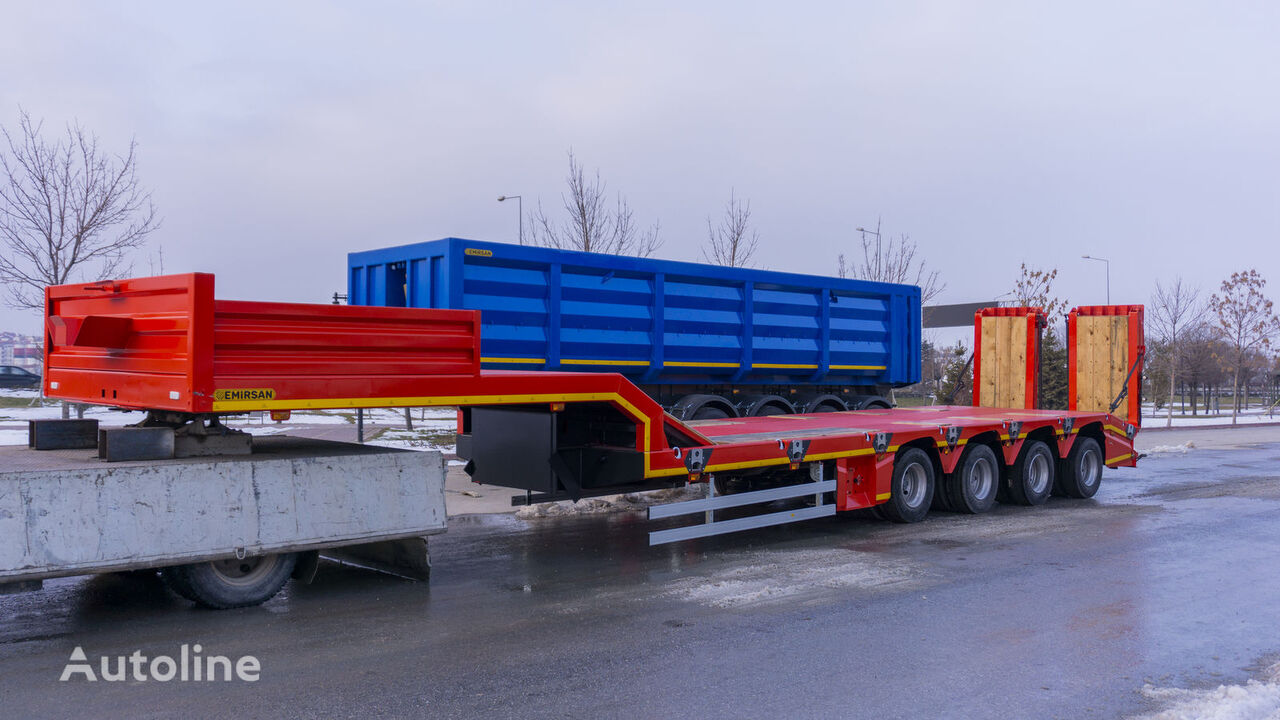 new EMIRSAN 4 Axle Lowbed Trailer with Steering Axles 2020 Direct from facto low bed semi-trailer