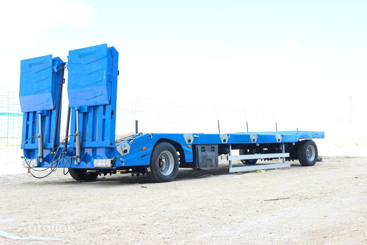 new EMIRSAN Dolly Platform Low Loader for Farming Equipment low bed semi-trailer