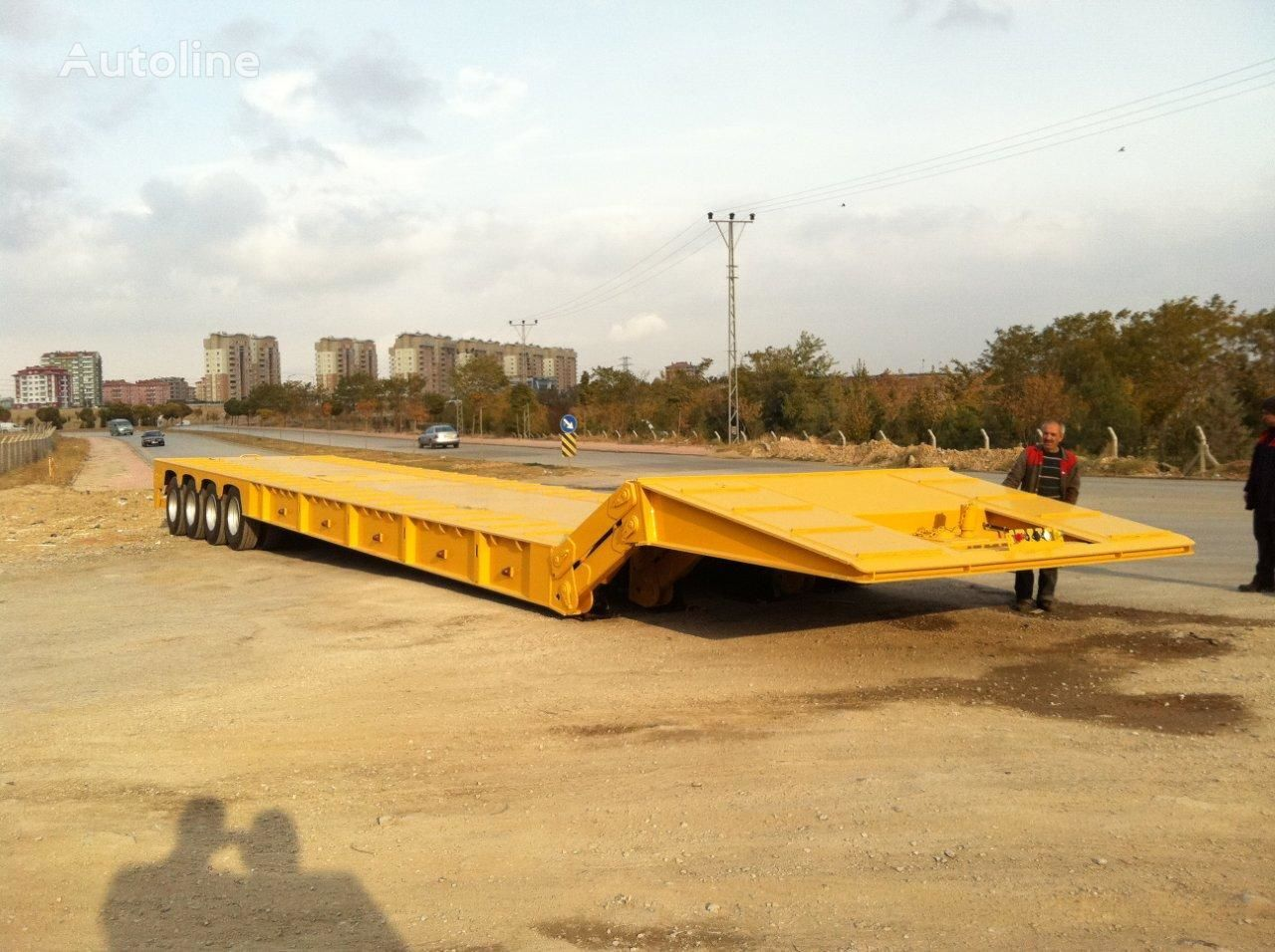 new EMIRSAN Front Loading Lowbed Trailer low bed semi-trailer