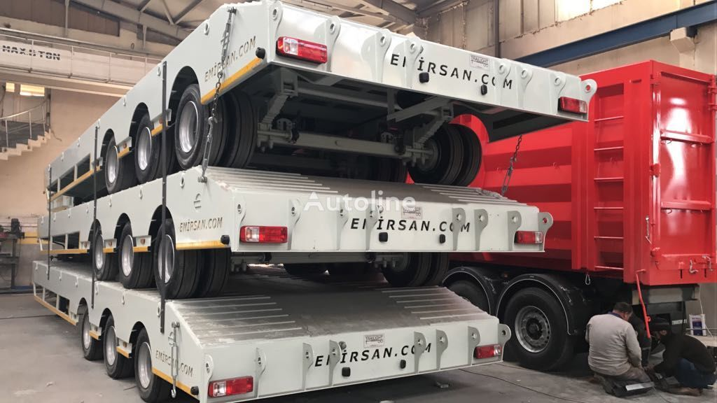 new EMIRSAN Lowbed Trailer 3 Axle  low bed semi-trailer