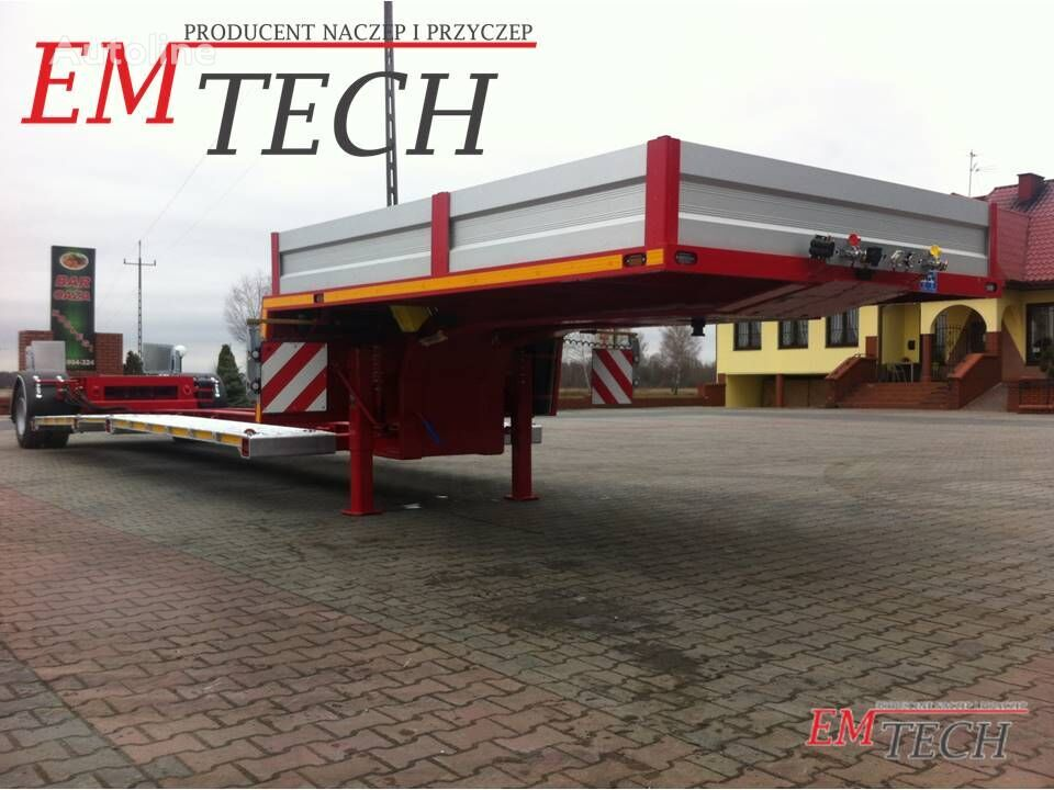 new EMTECH 1 osiowa z odpinanym wózkiem jezdnym low bed semi-trailer
