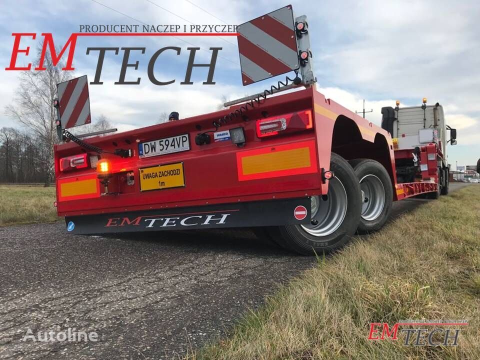 new EMTECH 2 osiowa TIEFBET rozciągana z osiami skrętnymi low bed semi-trailer