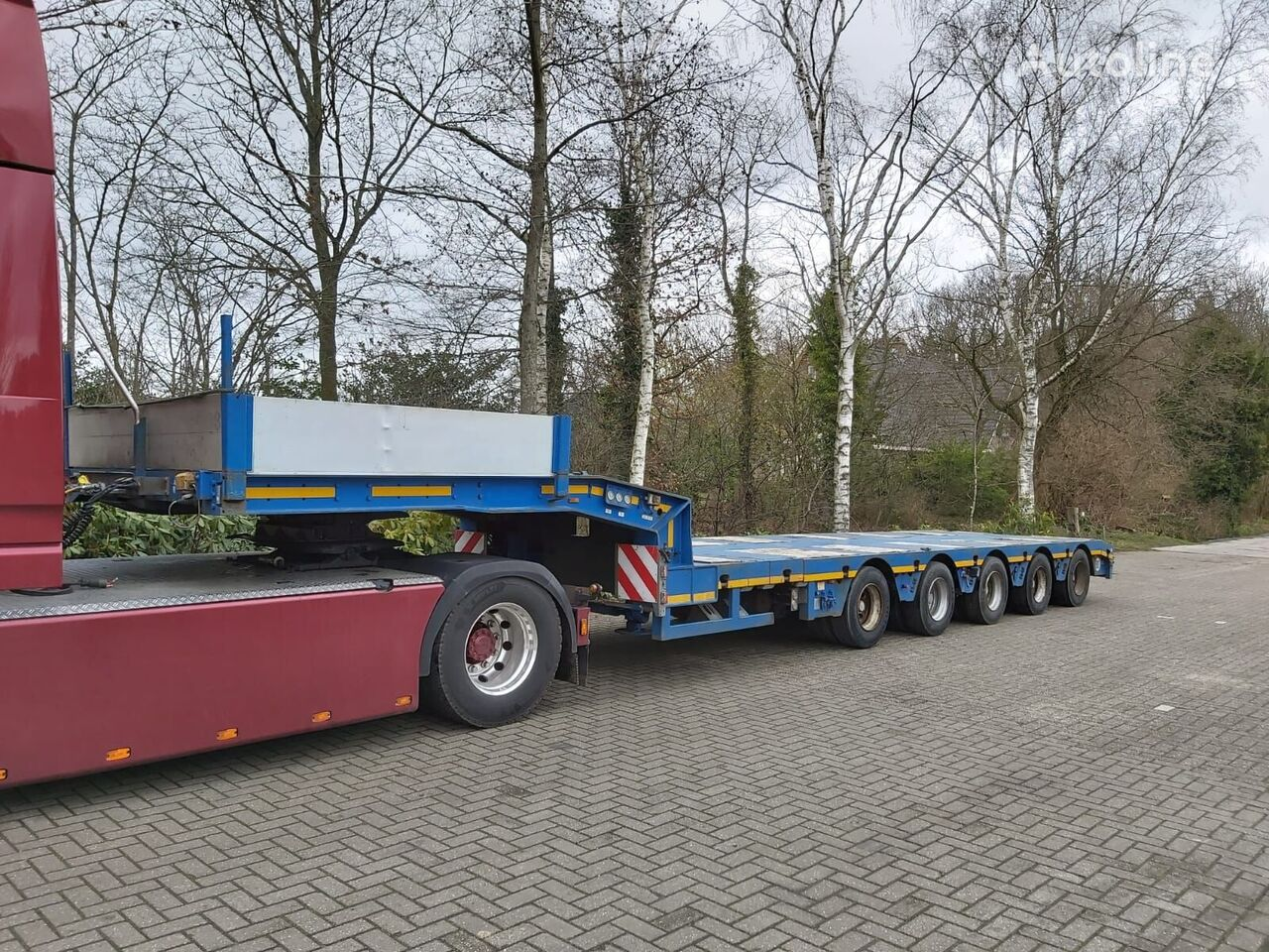 FAYMONVILLE STZ-5A   6,3M TELE POWERSTEERING low bed semi-trailer