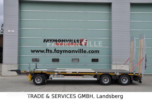 new FAYMONVILLE Tieflader mit geradem Plateau MAX600-S-3-8.00-U low bed semi-trailer