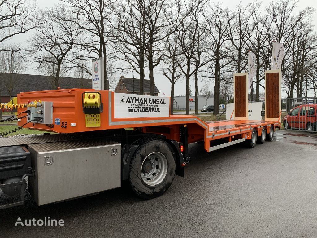 new KASSBOHRER Ayhan Ünsal 3 as semi low boy dieplader trailer 57 ton UNS3 low bed semi-trailer